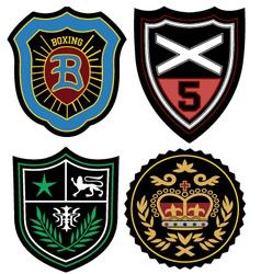 fashion emblem badge vector image vector image