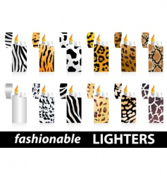 fashionable lighters vector image vector image