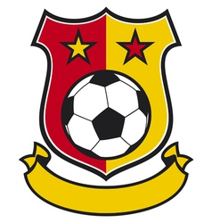 football club shield vector image vector image