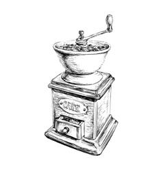 Manual Coffee Grinder vector image