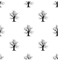 old tree icon in black style for web vector image vector image