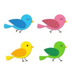 set of happy baby bird in flat style vector image vector image
