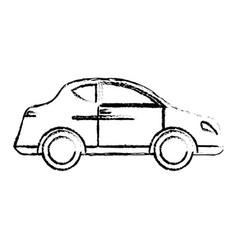 car transport vehicle style sketch vector image