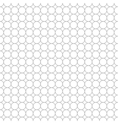 Gray grid made up of five millimeters circles vector image vector image