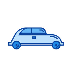 hatchback car line icon vector image vector image