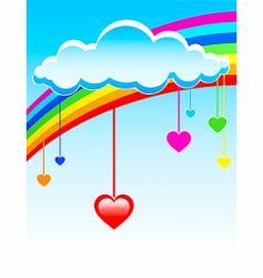 love rain vector image vector image