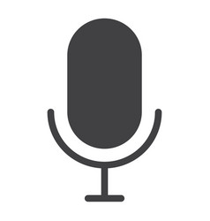 microphone glyph icon web and mobile record sign vector image vector image