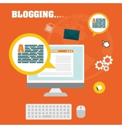 Blog and technology vector image