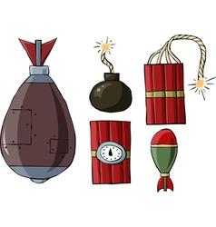 bomb symbol vector image