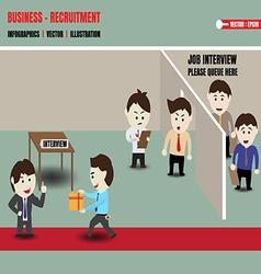 Business recruitment corruption vector image