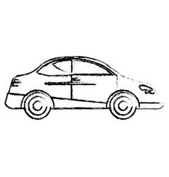 car transport auto traditional sketch vector image