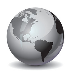 Earth grayscale vector image