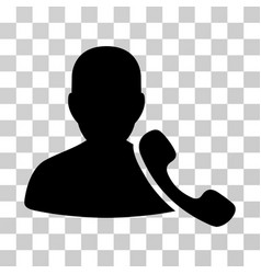 phone support icon vector image