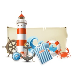 Sea border vector
