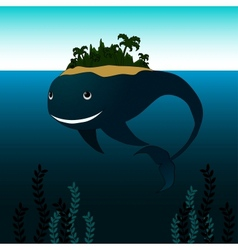 Whale with Island on his Back vector image