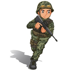 A soldier with a gun vector image
