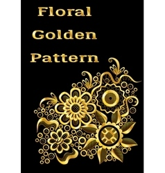 Abstract Golden Floral Pattern vector image