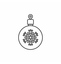 Ball for the Christmas tree icon outline style vector image