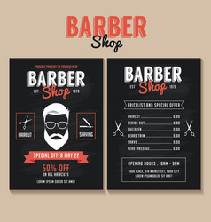 barber shop flyer template vector image
