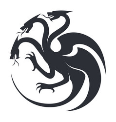 beast sketch silhouette or tattoo icon fantasy vector image
