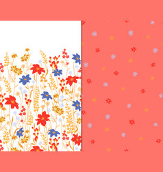 beautiful seamless floral pattern set flower vector image