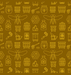 Beekeeping colored seamless pattern apiculture vector