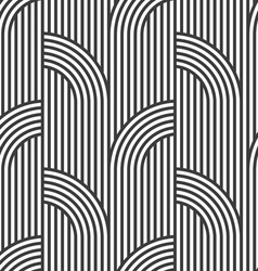 Black and white geometric striped seamless pattern vector