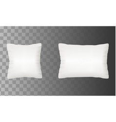 blank white pillow mock up set vector image