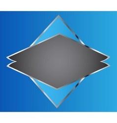 Blue brochure template flyer design origami vector image