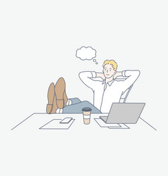 Break rest dream business concept vector