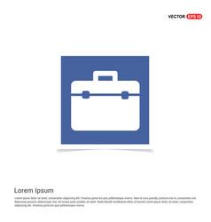 briefcase icon - blue photo frame vector image