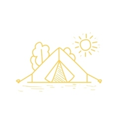 Camp Tent Under The Sun vector