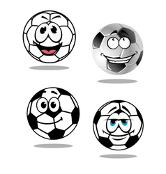 Cartoon soccer or football characters vector