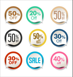 collection colorful sale stickers and tags 4 vector image