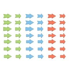 Colored shiny arrows vector