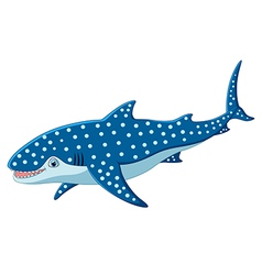 Cute leopard shark cartoon vector