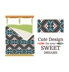 Decorative ornamental pattern for bed sheets vector