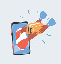 delivery concept with hand vector image