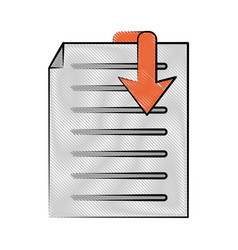 Document download icon image vector