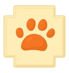 Dog paw icon cartoon style vector