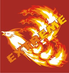 eagle fire vector image vector image
