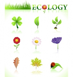 ecology symbols natural vector image