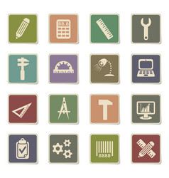 Engineering icon set vector