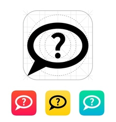 FAQ bubble icon vector image