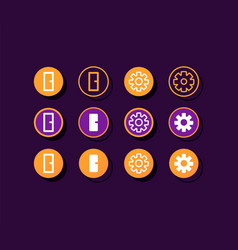 Fitness tracker app settings buttons ui elements vector