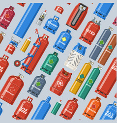 Gas cylinder lpg gas-bottle and vector
