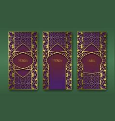 Golden decorative packaging design set labels vector