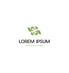 Green leaf organic ecology creative logo design vector