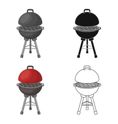 grill for barbecuebbq single icon in cartoon vector image