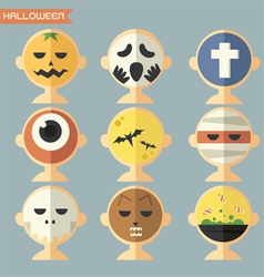 haloween face vector image
